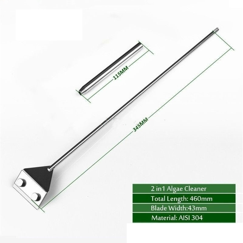 Stainless Steel Aquarium Algae Cleaner-46CM