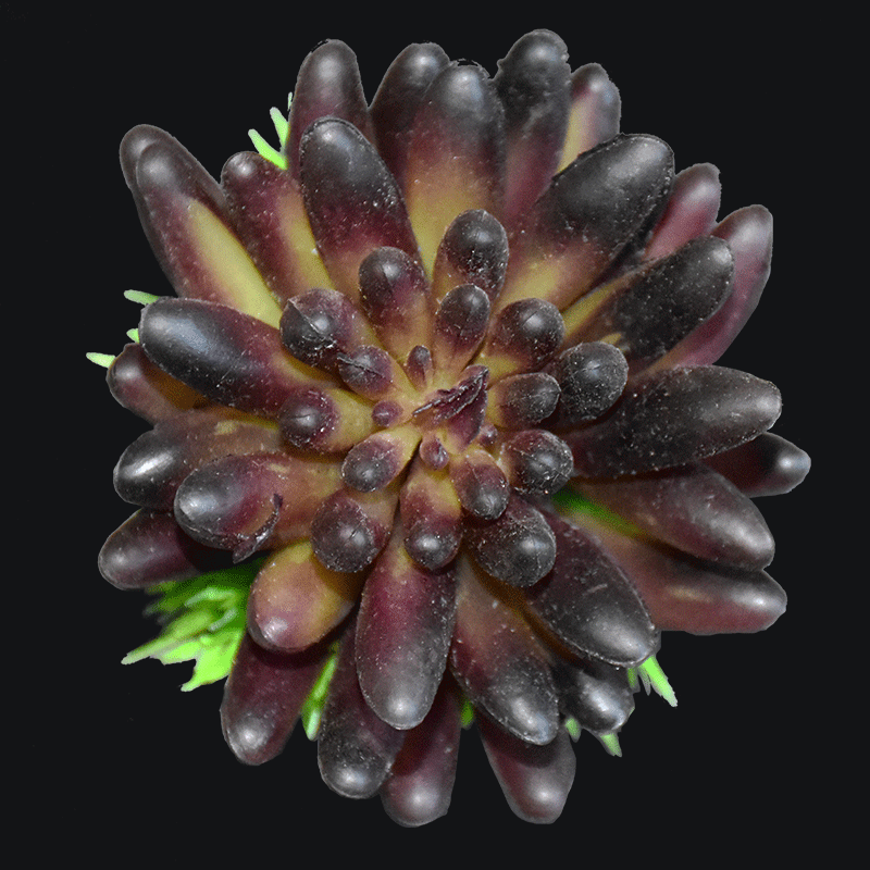 Large size artificial spike aeonium succulent pick in Purple AS-S008PP