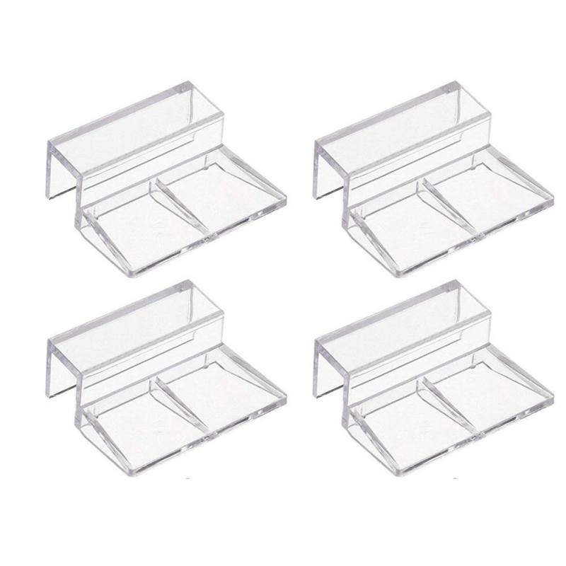4Pcs/bag Fish Aquarium Fish Tank Acrylic Clips Glass Cover Support Holders 6/8/10/12mm