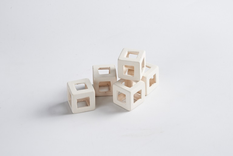 ceramic white cube for fish hiding ST-312