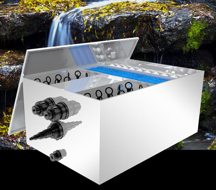Stainless Steel Pond Filter Box YTT series
