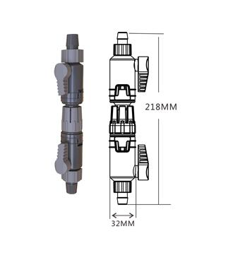 K-12/16 16/22 aquatic quick connection valve